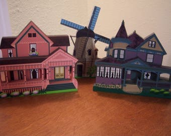 ledge sitters,Sheila,hand made,3D,Urfer House,Gibney Home,Sorensen Windmill,OH,IN,CA,1995-1997,queen anne victorian,home decor,cottage chic
