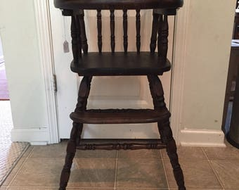 Vintage Wooden High Chair Jenny Lind Antique High Chair