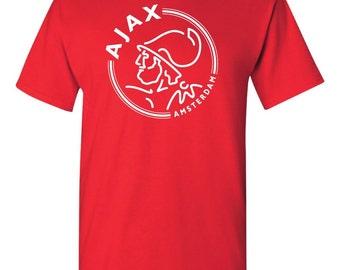 AFC Ajax Amsterdam Netherlands Football Club Soccer T Shirt Soccer UEFA