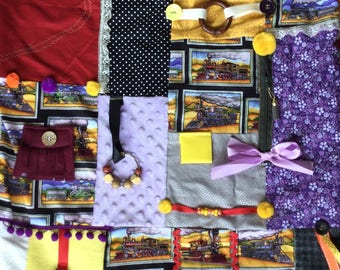 TRAIN TRAVELER | Dementia Therapy | Stroke Recovery | Fidget Quilts for Alzheimer's | Dementia Blanket | by Restless Remedy
