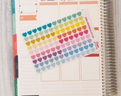 """108 tiny heart stickers, 0.3"""" stickers, planner stickers, eclp filofax happy planner color coding stickers"""