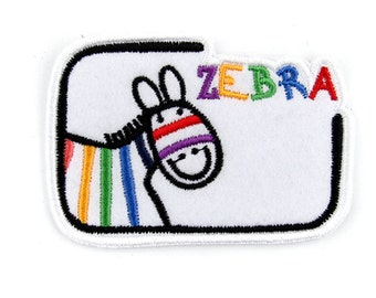 zebra patch ,DIY, DIY supplies, handmade patch, handmade appliques, handmade wappen, craft supplies,general supplies,embellis99AQ02650