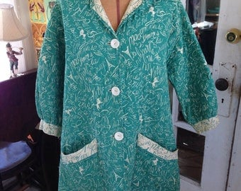 50's quilted cotton swing jacket