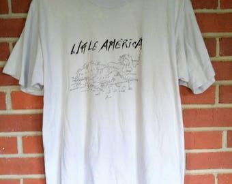 1984 R.E.M. Little America tour t-shirt map of Europe gray Mens XL