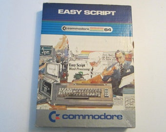 """Vintage Commodore 64 C64 : Easy Script Word Processing Software 1983 5.25"""" Diskettes"""