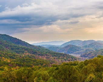 Landscape Photography - Vivid Color - Smoky Mountain Fireworks by Sean Thurston Photography