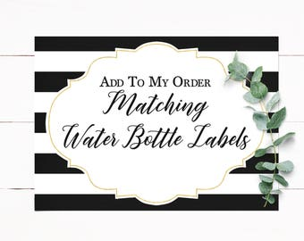 Water Bottle Labels Customized to Match Your Invitation