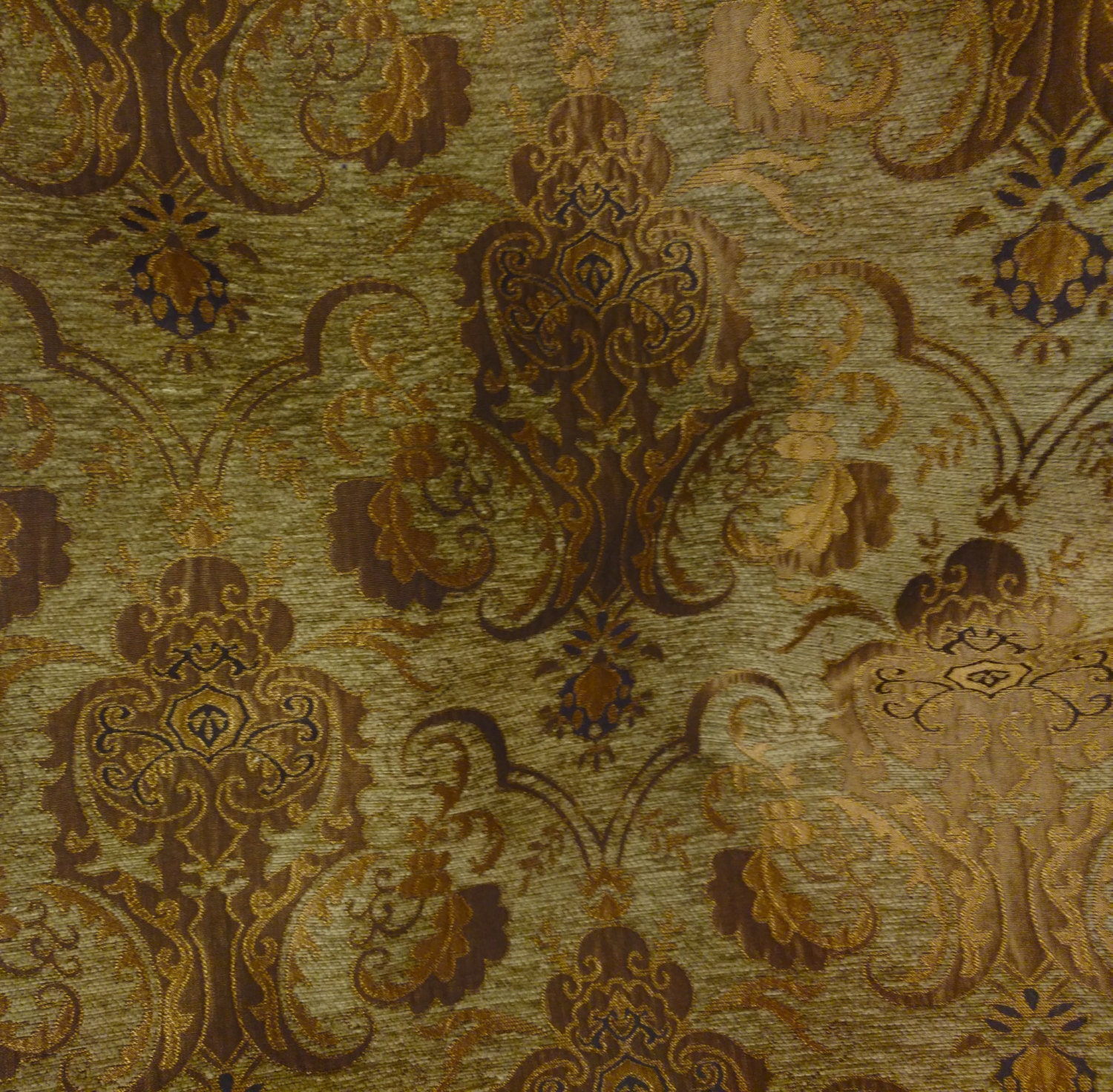 Chenille Damask Fabric, Renaissance Home Decor Upholstery,color ...