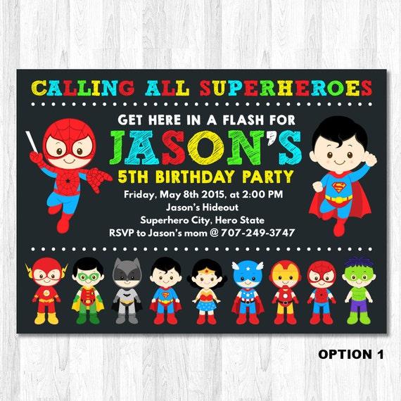 superhero birthday invitation superhero boy by kidzparty