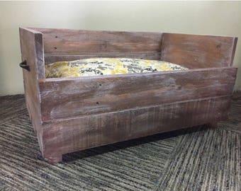 Reclaimed wood dog bedd LARGE