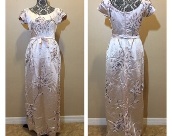 Vintage Prom Dress | Pink Prom Dress | Vintage Beaded Dress | 1950s Evening Gown