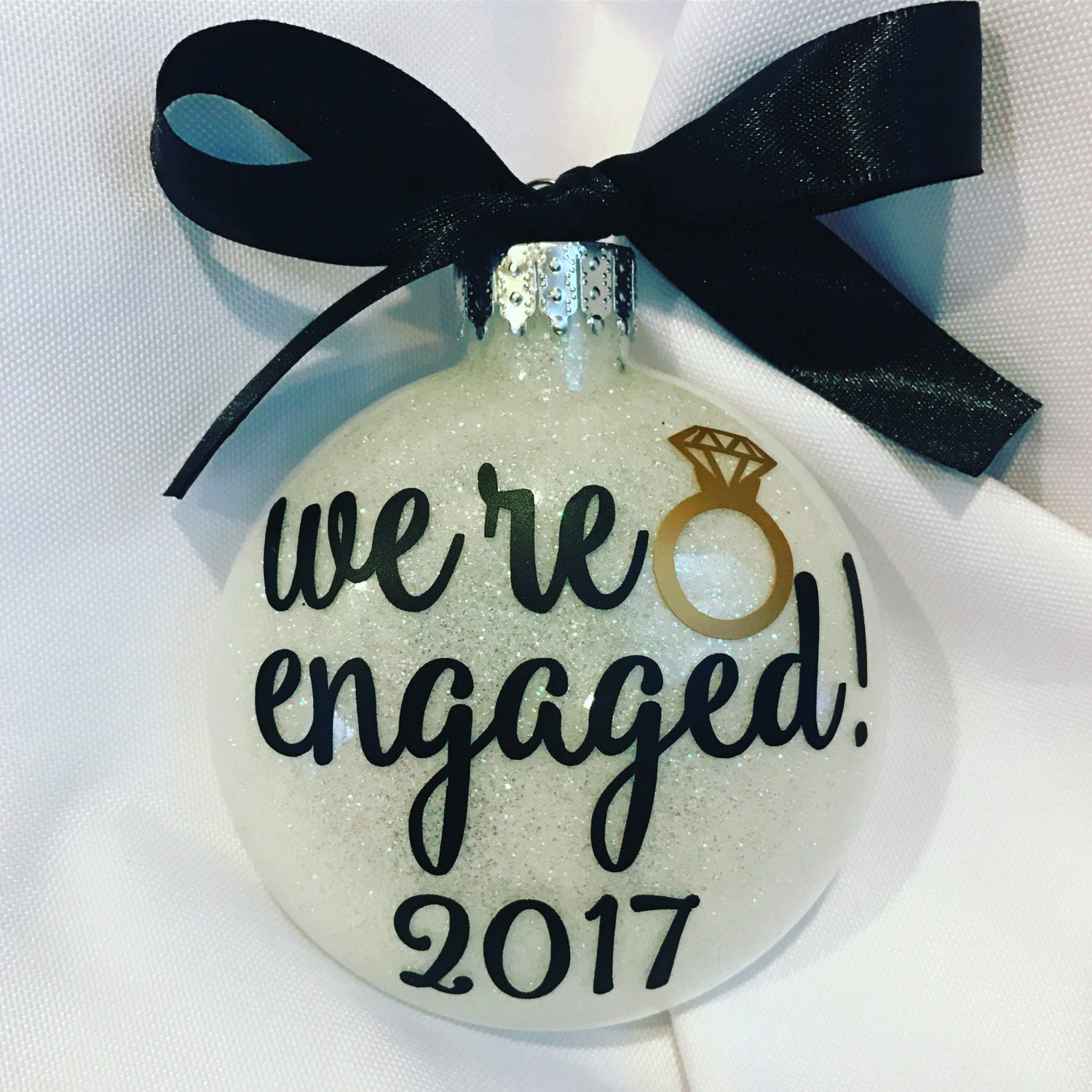 Engagement OrnamentWe're engaged 2017 ornament2018