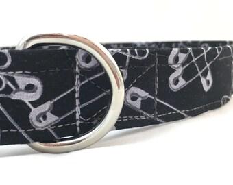 Safety Pin Dog Collar/Feminist dog collar/Im with Her/Nasty Woman Dog Collar/Safety Pin Collar/Political Dog Collar/Protest Dog Collar