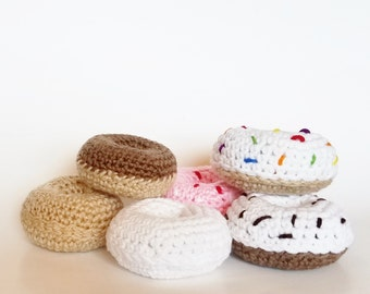 Amigurumi Crochet Doughnuts- Play Food