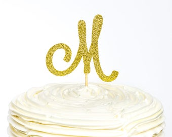 Monogram Cake Topper, Initial Cake Topper, Letter Cake Topper, Custom Cake Topper, Cake Topper, Glitter Cake Topper,  Name Cake Topper