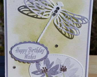 STAMPIN' UP! Dragonfly Dreams, Avant-Garden, Birthday Card