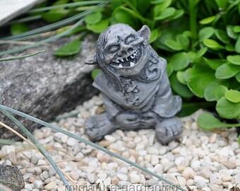 Toader the Troll for Miniature Garden, Fairy Garden