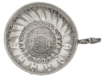 Bagués Spanish Silver Carlos III 1772 8 Reales Coin Tastevin