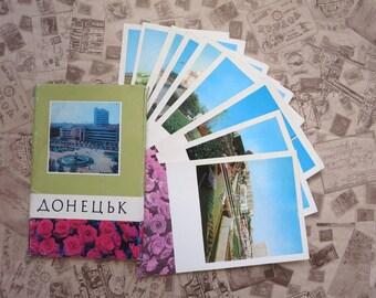 Vintage Postcard, Postcards set, soviet postcard USSR, russian postcards, collectibles cards, Paper Ephemera, USSR Cards, Greeting card