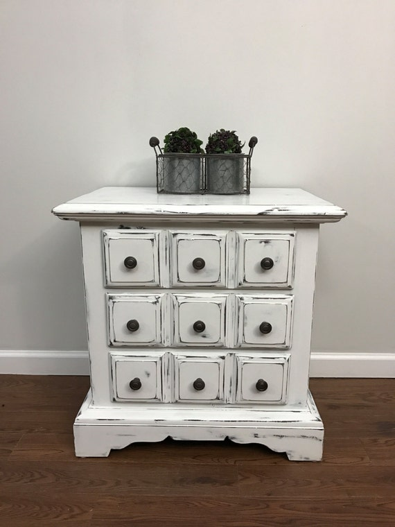 Items similar to sold vintage white distressed Things to use as nightstands