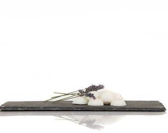 Soy pellets, lavender fragrance