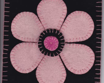 Pink Flower- mug rug e-pattern #162