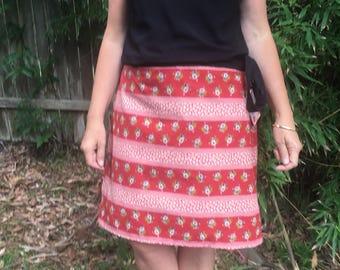 Ladies wrap around skirt , size small, 10