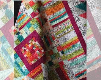 Modern Medallion Quilt Pattern - Beyond the Reef - by Natalie Barnes / Hand Maker