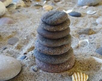 Meditation Stones. Zen Stones. Cairn Stack. Zen Cairn. Beach stones. Sea Zen stones. Garden stones.