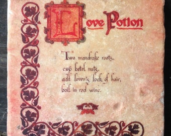 Love Potion Charmed Coaster or Decor Accent