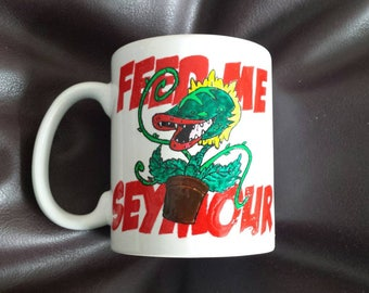 Hand painted mug inspired by Little Shop of Horrors