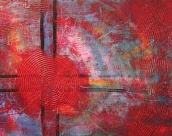 "18""x24"" Original Acrylic Abstract Painting"