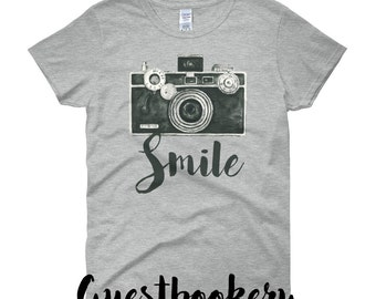 Photography T SHIRT - Smile T Shirt - Photography Tee - Photography Tshirt - Camera Tshirt - Camera Tee - Photographer Tshirt - Photographer