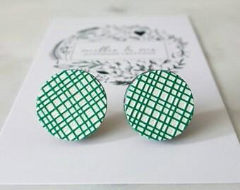 Embossed wooden earrings