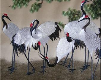 """6"""" X 6"""" Ceramic Accent Tile Japanese Flamingos"""
