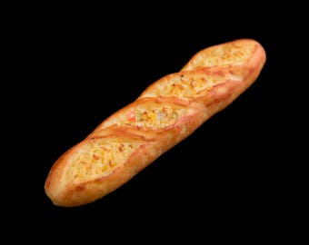 Dollhouse Miniatures Handcrafted Clay Long French Bread Food Bakery Decoration Supply
