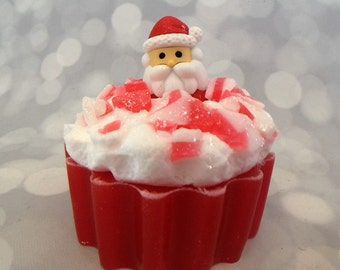Santa Soap - Santa Claus Soap - Candy Cane Soap - Candy Soap - Christmas Soap - Holiday Soap - Stocking Stuffers - Kids Soap - Novelty Soap