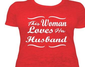 This Woman Loves Her Husband Vinyl Design