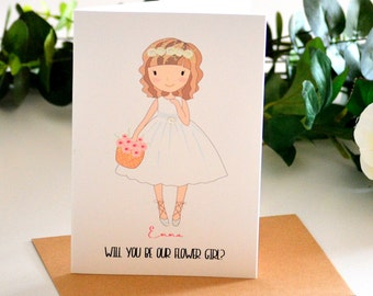 Be Our Flower Girl Invitation, Will You Be Our Flower Girl Card, Be My Flower Girl Invitation, Wedding Party Invitation, Junior Bridesmaid