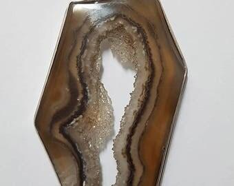 Agate Drusy Slice Pendant