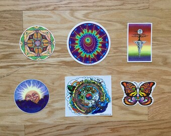 Vintage Psychedelic Sticker Pack 2