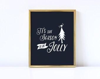 Christmas Printable, Christmas Print, Christmas Decoration, Tis The Season, 8x10, instant download