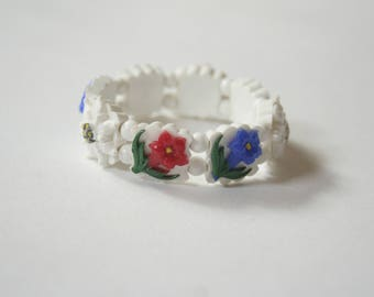 Vintage Maligne Lake Jasper National Park Childs Floral Bracelet