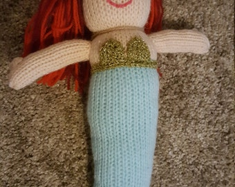Knkitted mermaid