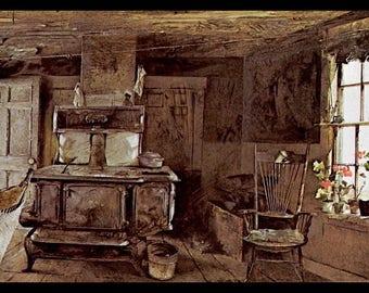 Andrew Wyeth, Andrew Wyeth Print, American Art, American Artist, Americana,  Wyeth
