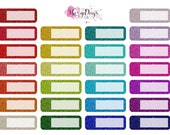Glitter Appointment Event Size Planner Stickers