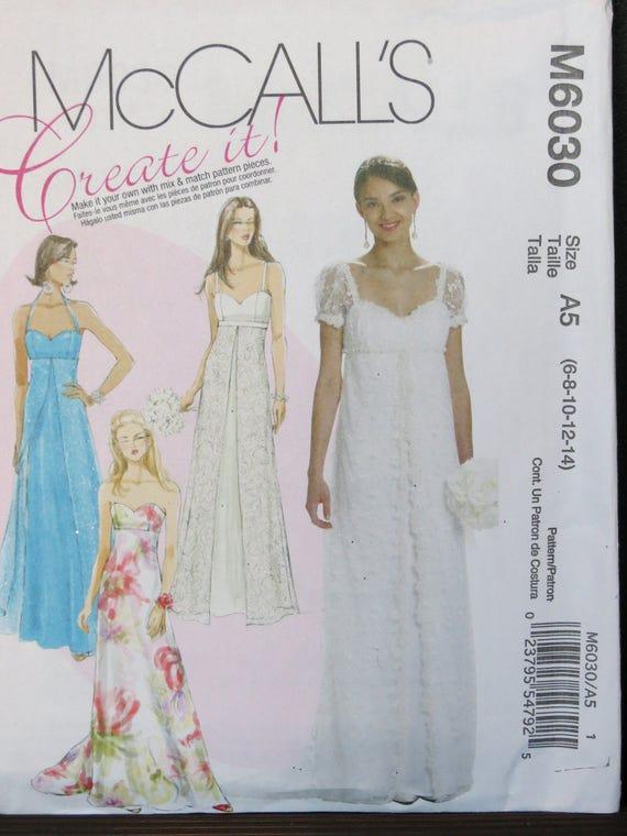 Patrón de costura de señoritas / Formal señoritas, boda, vestido de ...