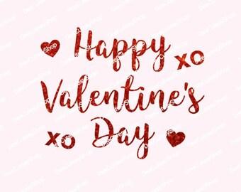 Schön Happy Valentines Day Iron On, Non Shed Glitter, Red, Valentine, Iron