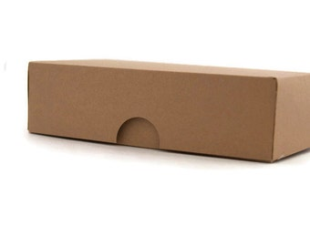 Set of 10 Kraft gift box, kraft rectangle box, rustic gift box, wedding favor box, small gift box, jewelry gift box