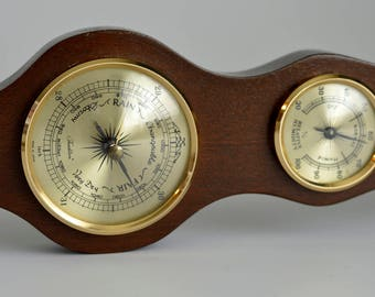 Vintage,Wooden Barometer, Tradition,Made in  Japan, Temperature, Weather,Humidity